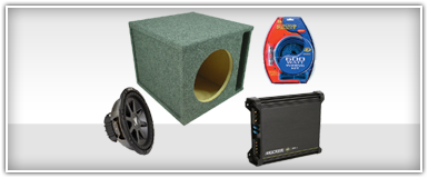 Single 8 Inch Car Audio Package