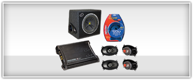 Car Audio 4-Channel Amp and Speaker Combo